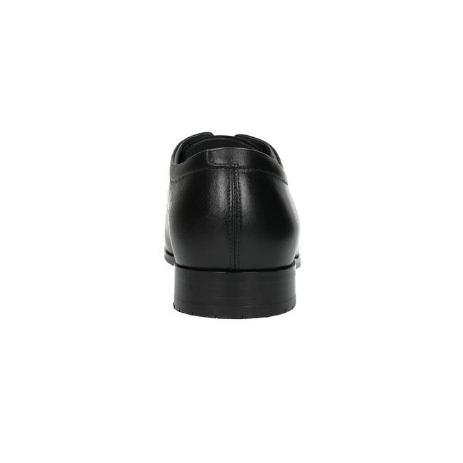 Pánské kožené polobotky climatec, černá, 824-6752 - 17