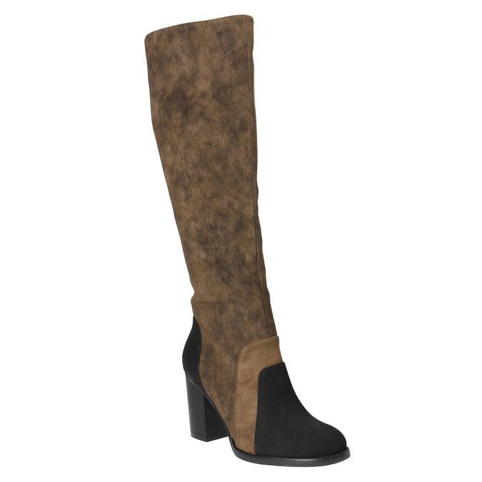 Kozačky na širokém podpatku bata, hnědá, 799-3611 - 13