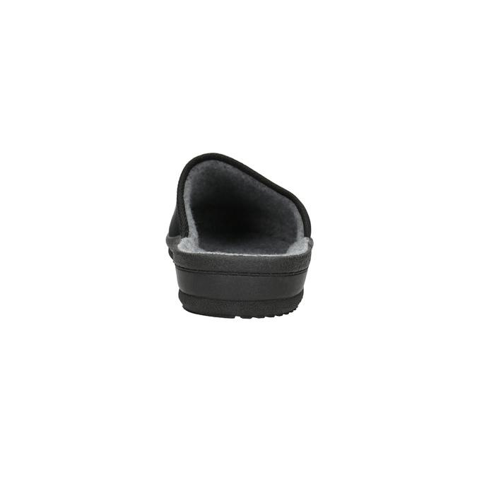 Pánská domácí obuv bata, černá, 879-6601 - 17