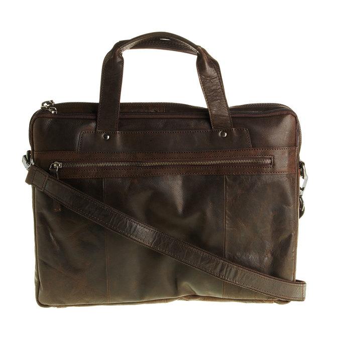 Kožená taška se zipem bata, hnědá, 964-4101 - 26