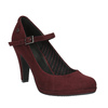 Vínové lodičky s páskem přes nárt bata, červená, 729-5601 - 13