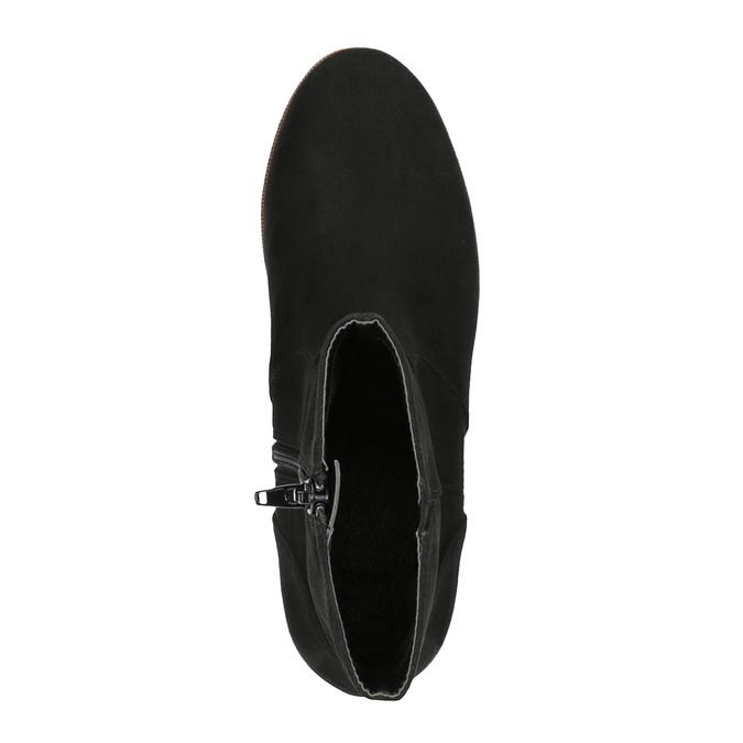 Kotníčková obuv na flatformě bata, černá, 699-6601 - 19