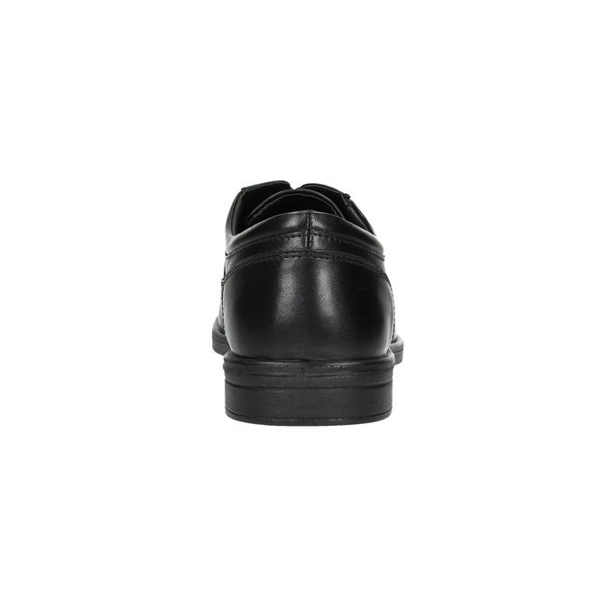 Pánské kožené polobotky bata, černá, 824-6744 - 17