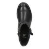 Dívčí kotníčková obuv s přezkami mini-b, černá, 391-6260 - 19