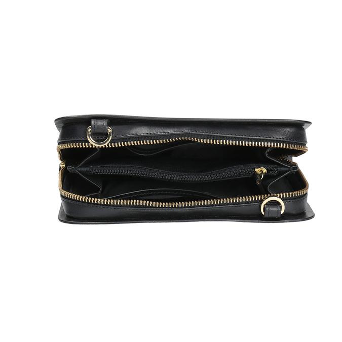 Kožená Crossbody kabelka černá royal-republiq, černá, 964-6017 - 15