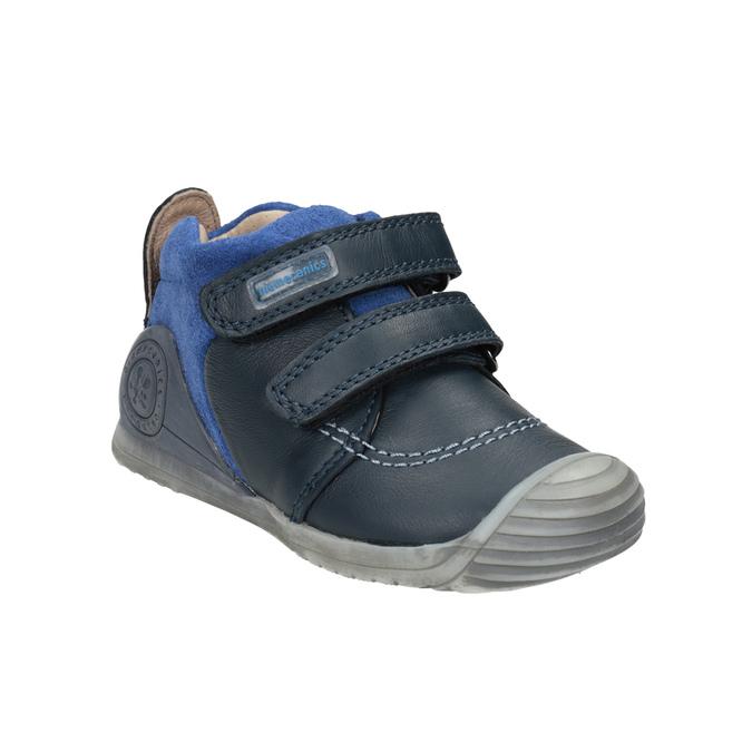 Dětská kožená obuv na suché zipy biomecanics, modrá, 114-9001 - 13