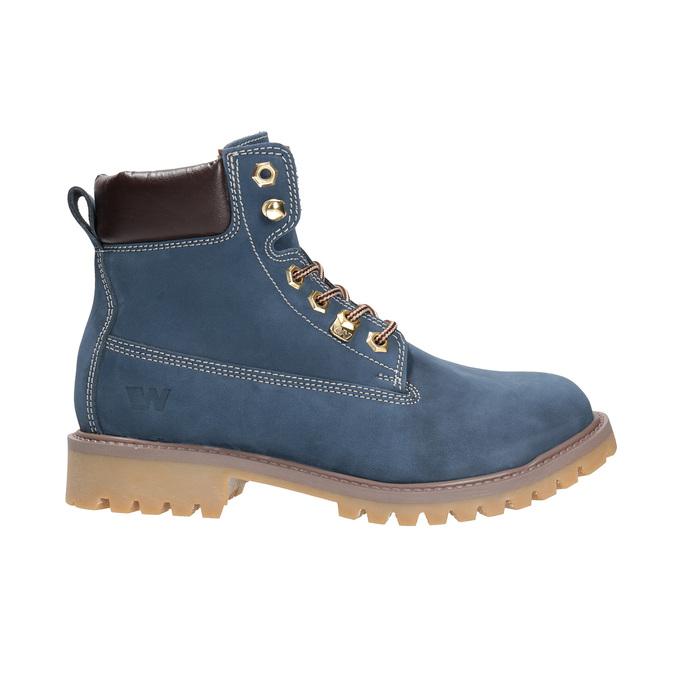 Dámská kožená obuv modrá weinbrenner, modrá, 596-9629 - 15