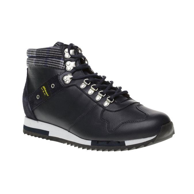 Pánská kožená obuv, modrá, 2018-894-9001 - 13