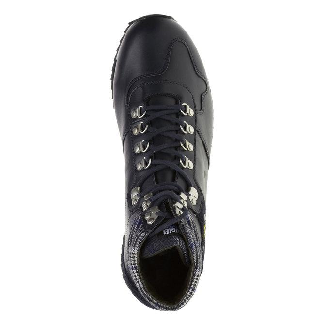 Pánská kožená obuv, modrá, 2018-894-9001 - 19