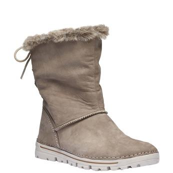 Dámské zimní boty s kožíškem weinbrenner, béžová, 596-2334 - 13