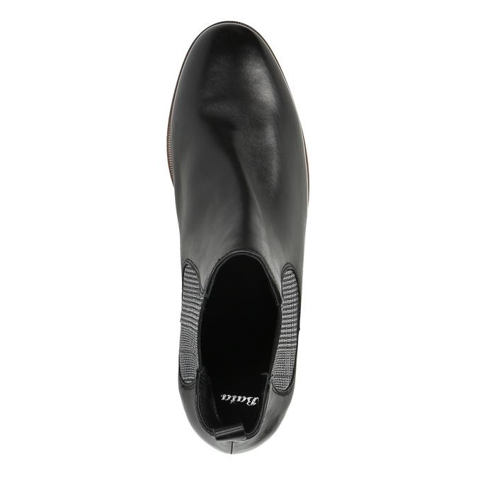 Dámské kožené Chelsea Boots bata, černá, 596-6607 - 19