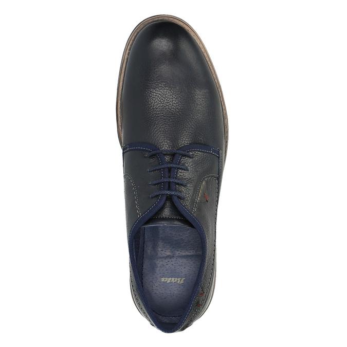 Kožené ležérní polobotky modré bata, modrá, 824-9699 - 19