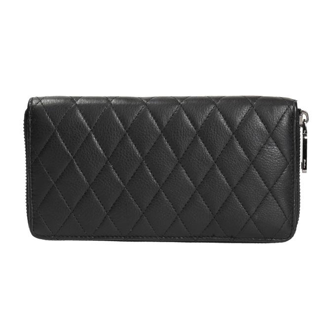 Dámská kožená peněženka s prošíváním bata, černá, 944-6164 - 19
