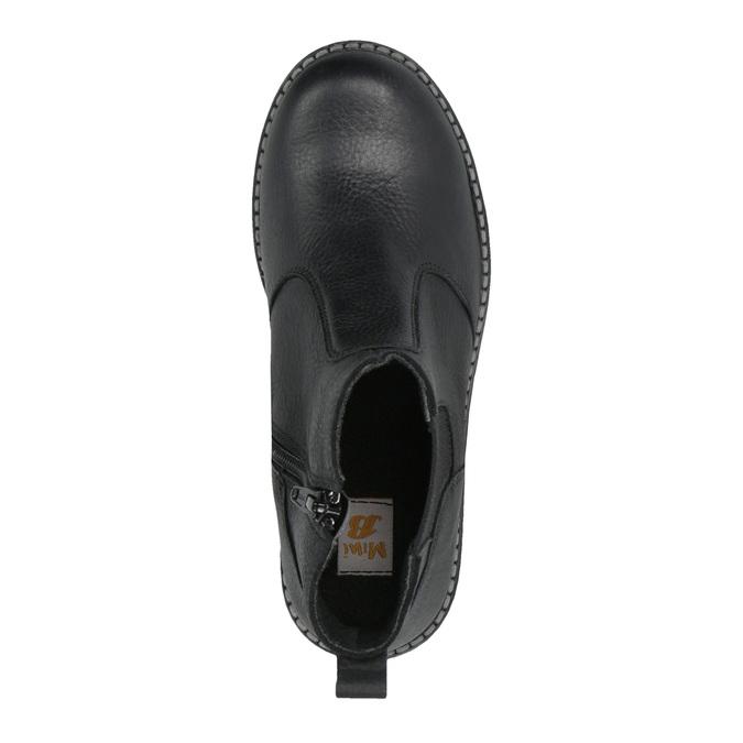 Dětská kožená obuv nad kotníky mini-b, černá, 394-6316 - 19