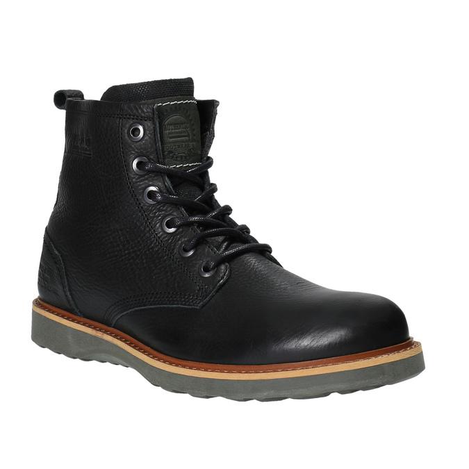 Kožená kotníčková zimní obuv bata, černá, 894-6659 - 13