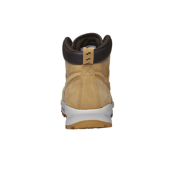 Kožená pánská kotníková obuv nike, hnědá, 806-8435 - 16