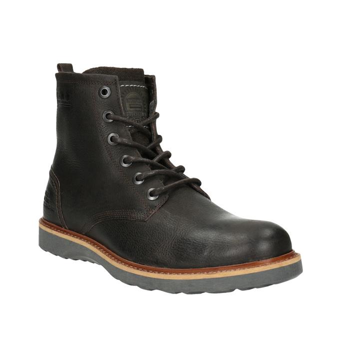 Pánská kožená zimní obuv bata, hnědá, 894-4659 - 13
