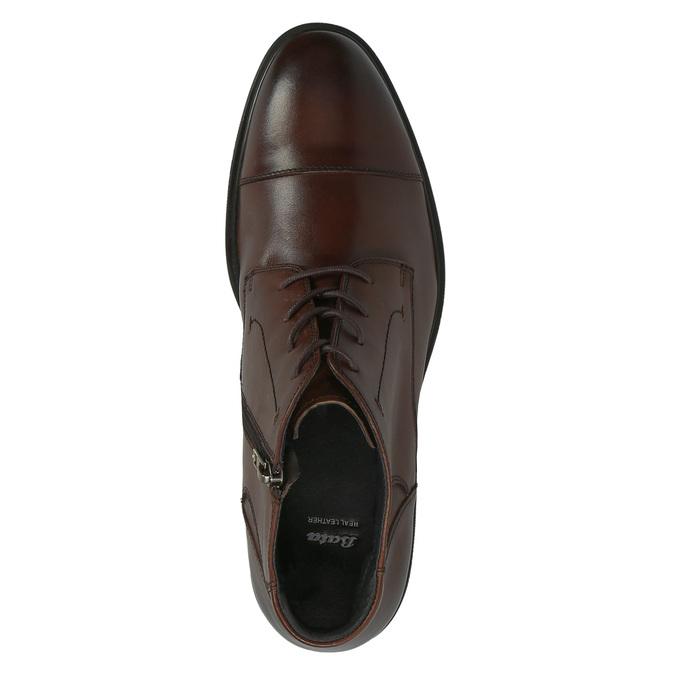 Kožená pánská obuv ke kotníkům bata, hnědá, 894-4671 - 19