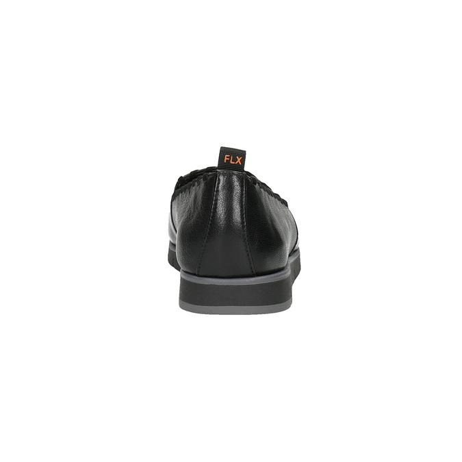 Dámské kožené Slip-on s obšitím flexible, černá, 514-6257 - 17