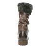 Dámské kožené kozačky s kožíškem bata, hnědá, 594-4612 - 17
