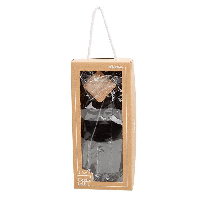 Dámské kožené rukavice v dárkové krabici bata, černá, 903-6102 - 26