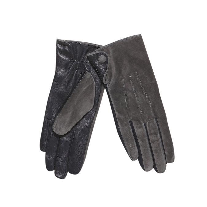Kožené dámské rukavice bata, šedá, 903-2101 - 13