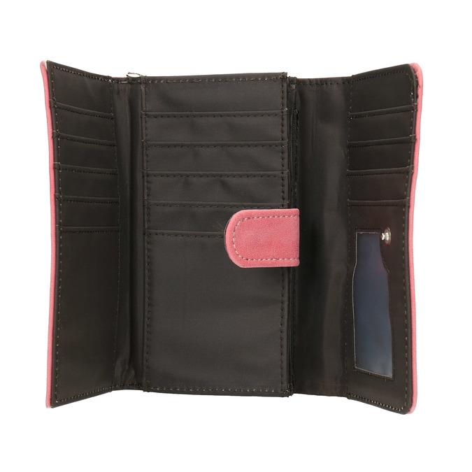 Růžová dámská peněženka bata, růžová, 941-1153 - 15