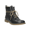 Kožená kotníčková obuv se zateplením bata, černá, 594-6610 - 13