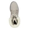 Kožená zimní obuv s kožíškem bata, béžová, 696-3336 - 17