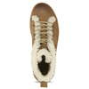 Kožené kotníčkové tenisky s kožíškem weinbrenner, hnědá, 596-8627 - 17