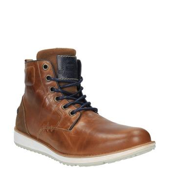 Kožená kotníčková obuv na ležérní podešvi bata, hnědá, 894-3660 - 13