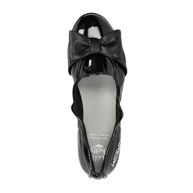 Lakované dětské baleríny lelli-kelly, černá, 321-6003 - 19