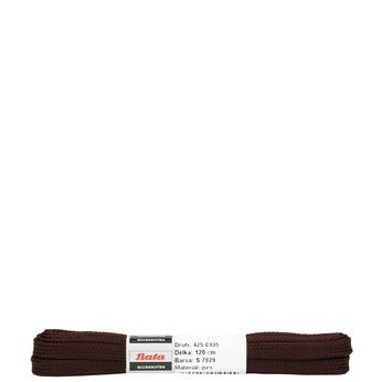 Hnědé ploché tkaničky bata, hnědá, 901-4120 - 13