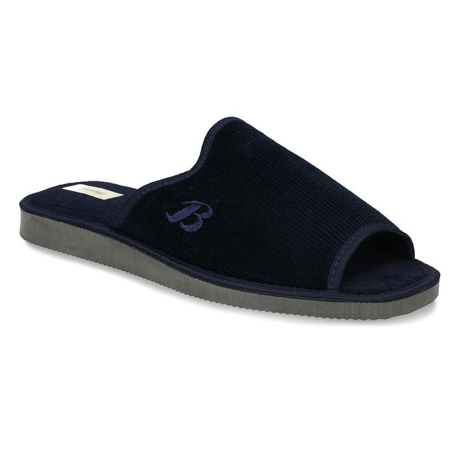 Pánská domácí obuv bata, modrá, 879-9609 - 13