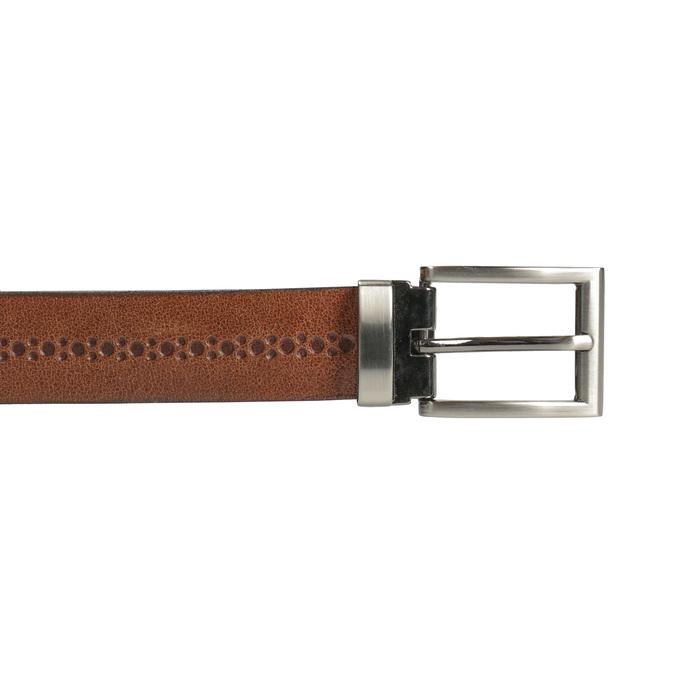 Kožený pánský opasek bata, hnědá, 954-3101 - 26