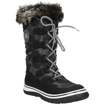 Dámské sněhule s kožíškem bata, černá, 599-6609 - 13
