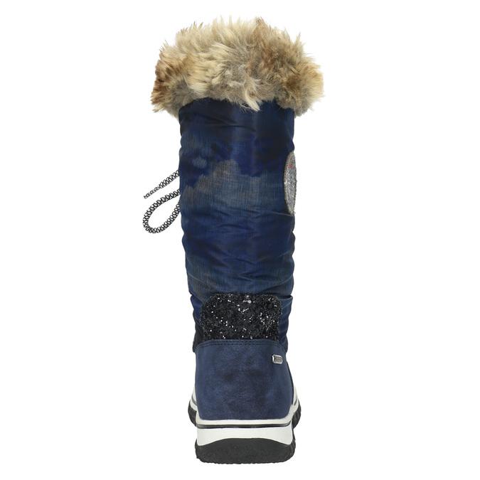 Stylové sněhule s kožíškem bata, modrá, 599-9609 - 17
