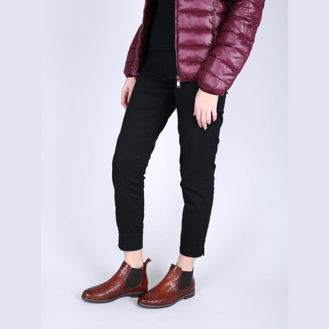 Kožené Chelsea boots bata, hnědá, 596-4606 - 18