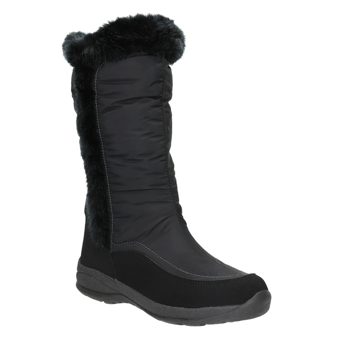 Černé sněhule s kožíškem bata, černá, 599-6613 - 13