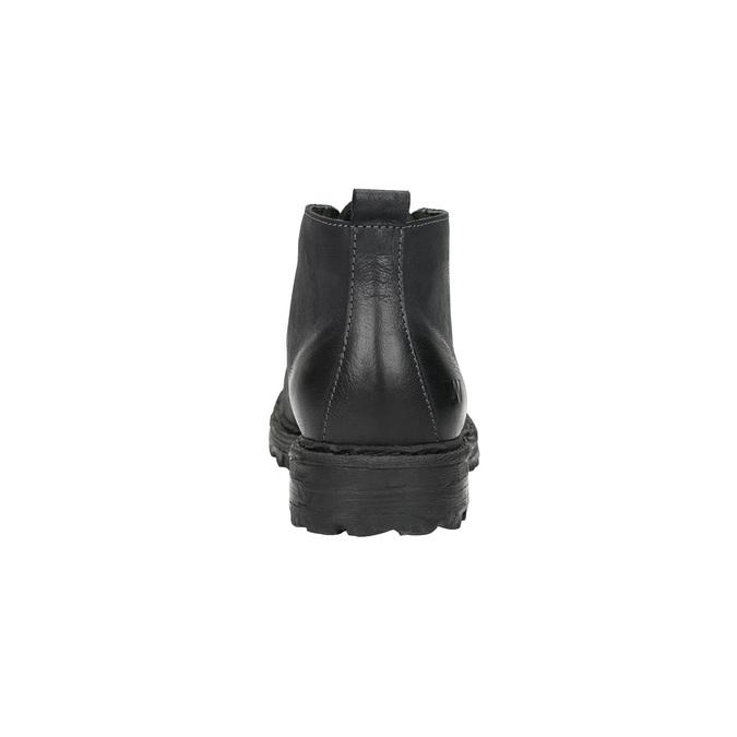 Kožená kotníčková obuv weinbrenner, černá, 844-6603 - 17