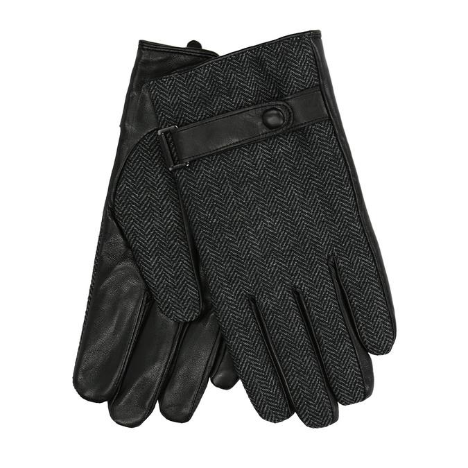 Pánské rukavice s páskem bata, černá, 909-6297 - 13