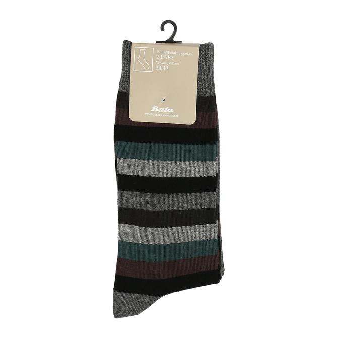 Pánské ponožky 2 páry bata, šedá, 919-2411 - 13