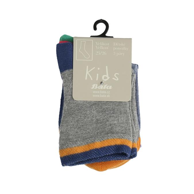 Dětské ponožky 3 páry bata, 919-0590 - 13