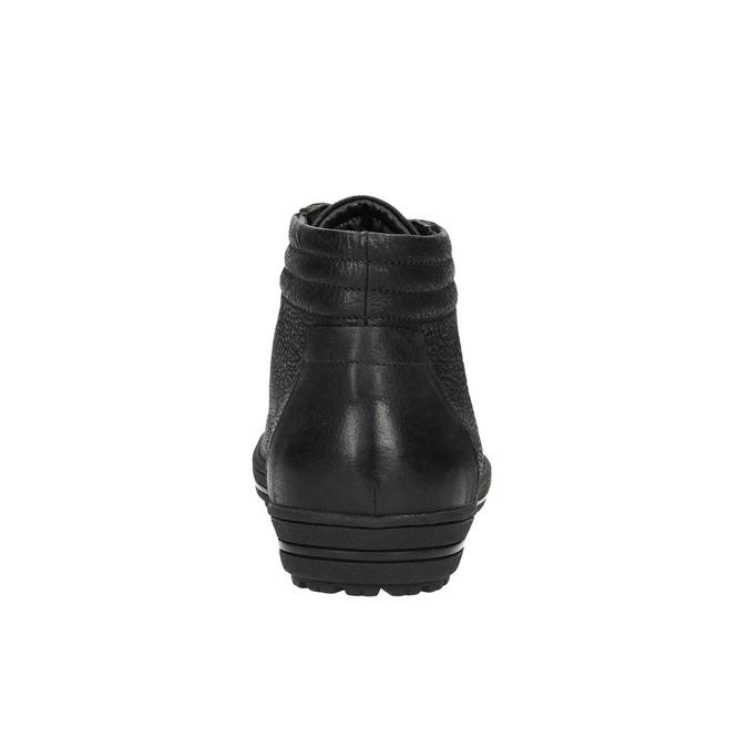 Dámské kotníčkové tenisky bata, černá, 594-6659 - 17