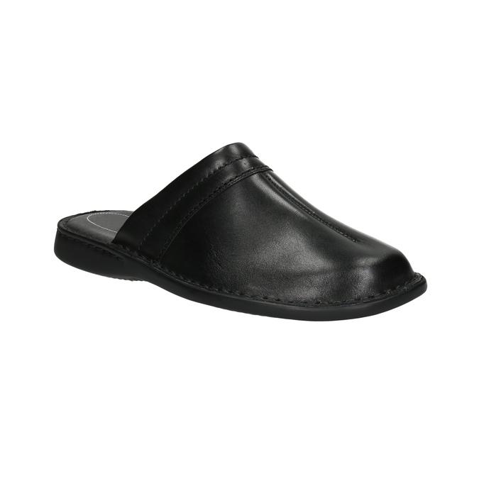 Pánské kožené nazouváky comfit, černá, 874-6600 - 13