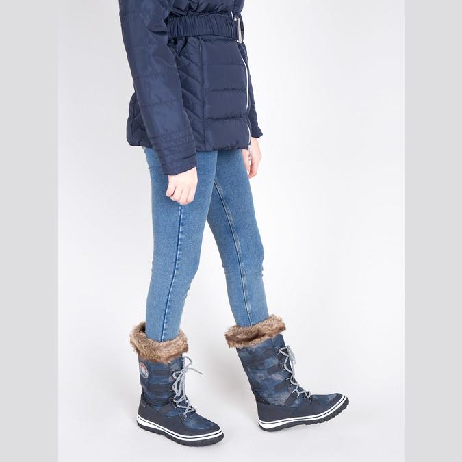 Stylové sněhule s kožíškem bata, modrá, 599-9609 - 18