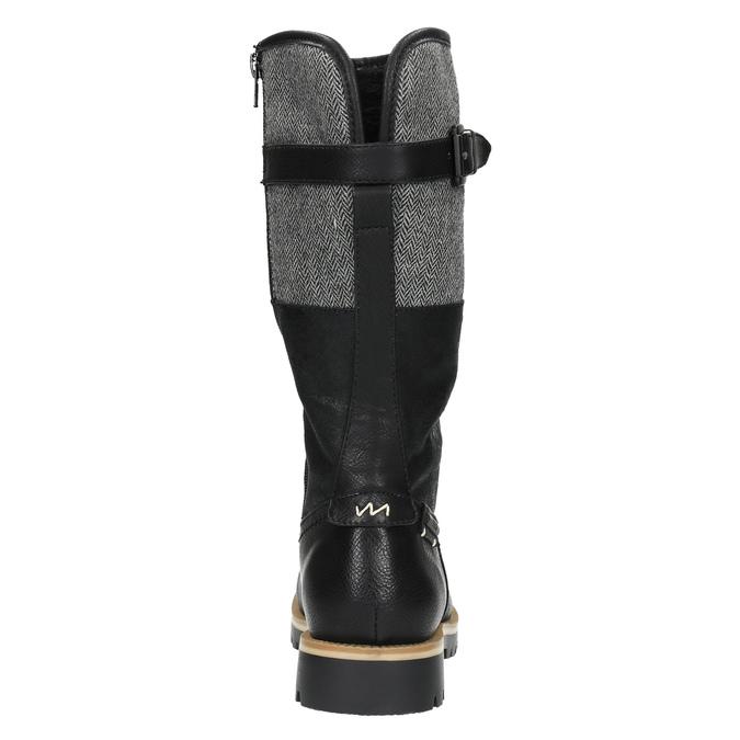 Kozačky na výrazné podešvi bata, černá, 591-6608 - 17