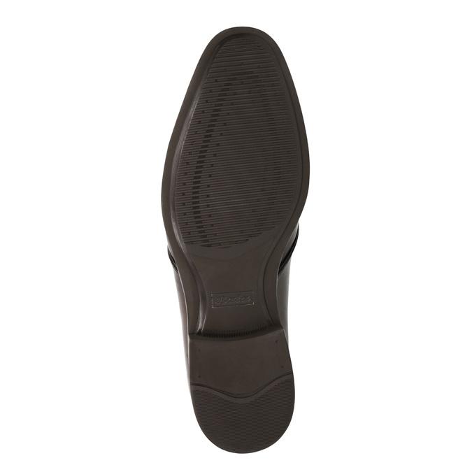 Hnědé kožené polobotky bata, hnědá, 824-4754 - 26