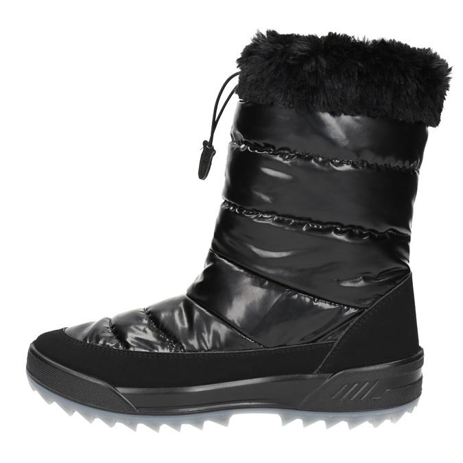 Černé sněhule s kožíškem weinbrenner, černá, 591-6617 - 19