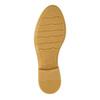 Dámské kožené polobotky s perforací bata, hnědá, 526-4621 - 26